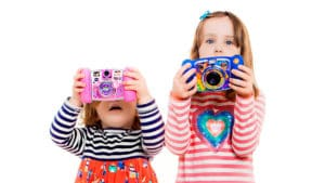 kids with toy cameras