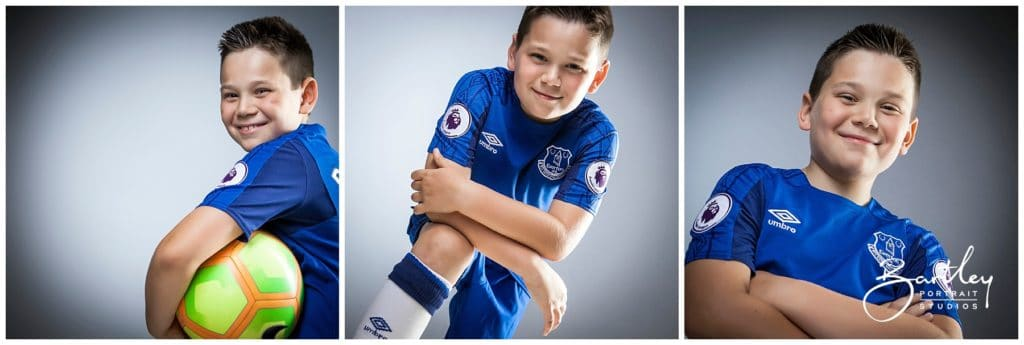 everton fooball kit portrait studio