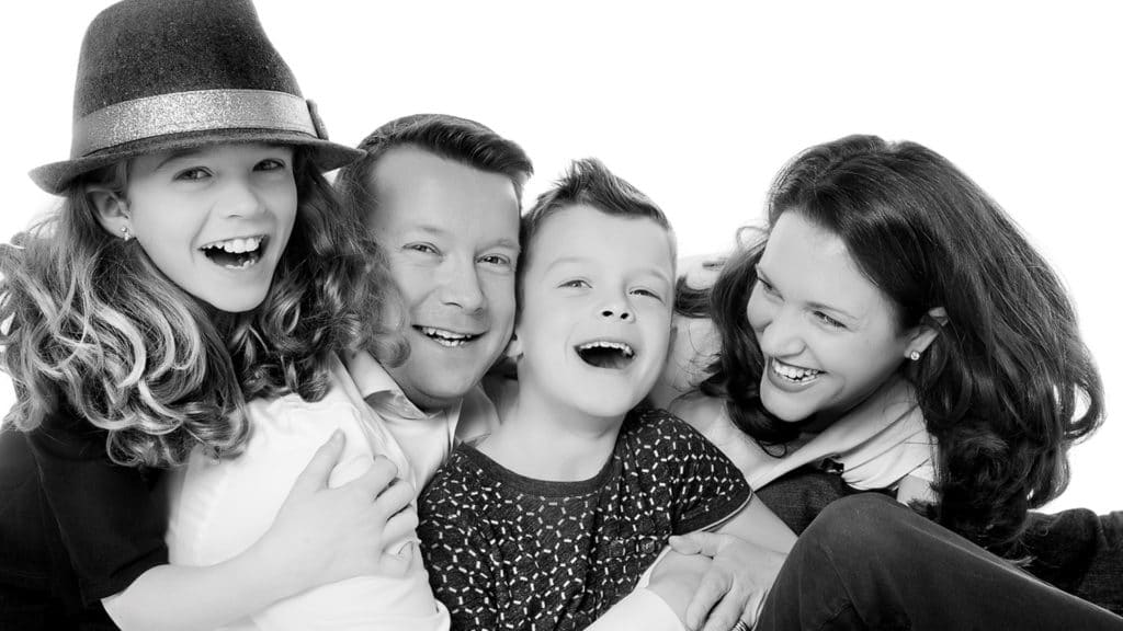 lovely family shot all squeezed together