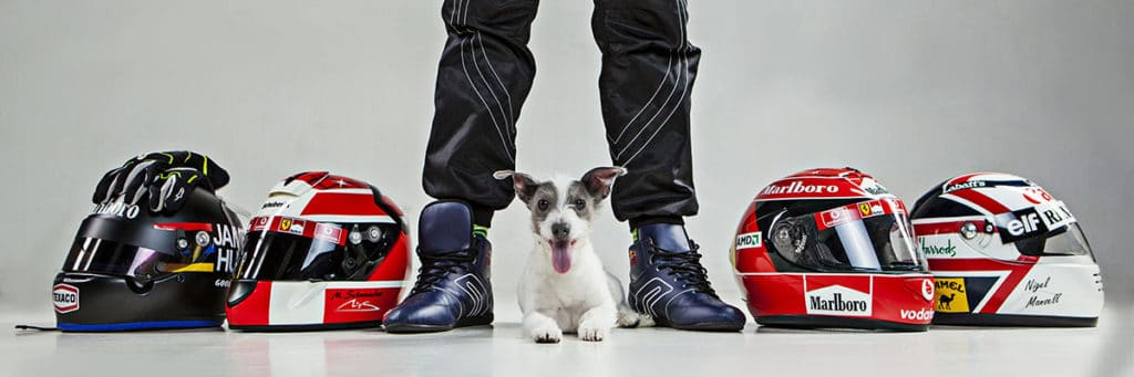 dog motorbike helmet boots legs studio shoto shoot biking theme biker