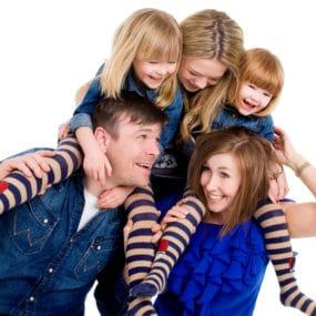 family portrait warrington liverpool cheshire girls on shoulders