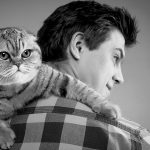 man and cat photography goostrey cheshire near knutsford