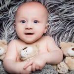 newborn baby photograph taken at Bartley Portrait Studios in Cheshire