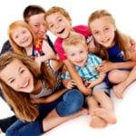 Families multi generation grandchildren portraits Bartley