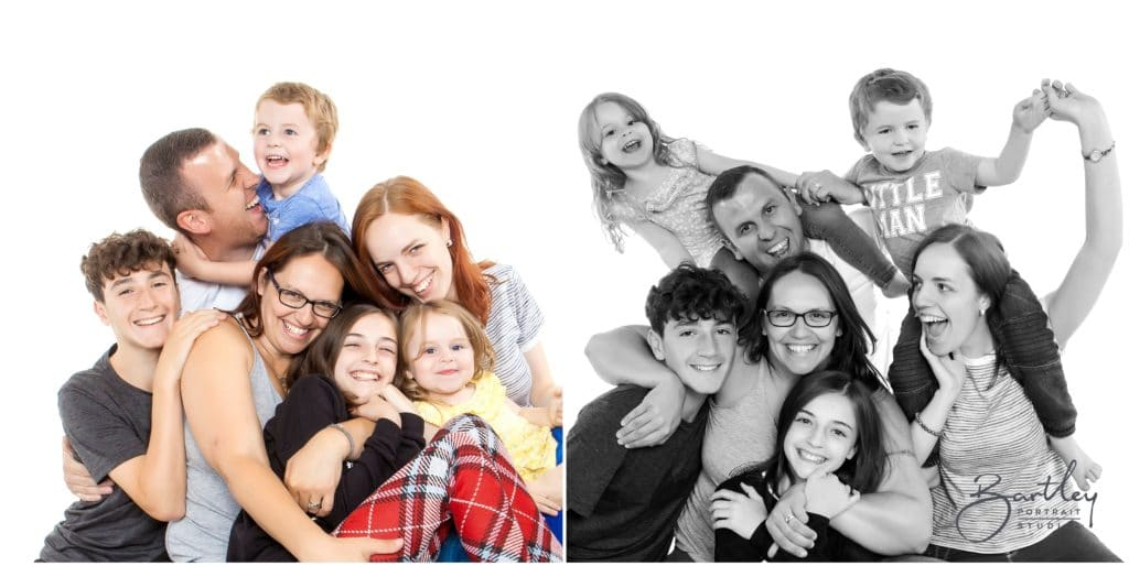 Family with 5 kids portrait from Liverpool