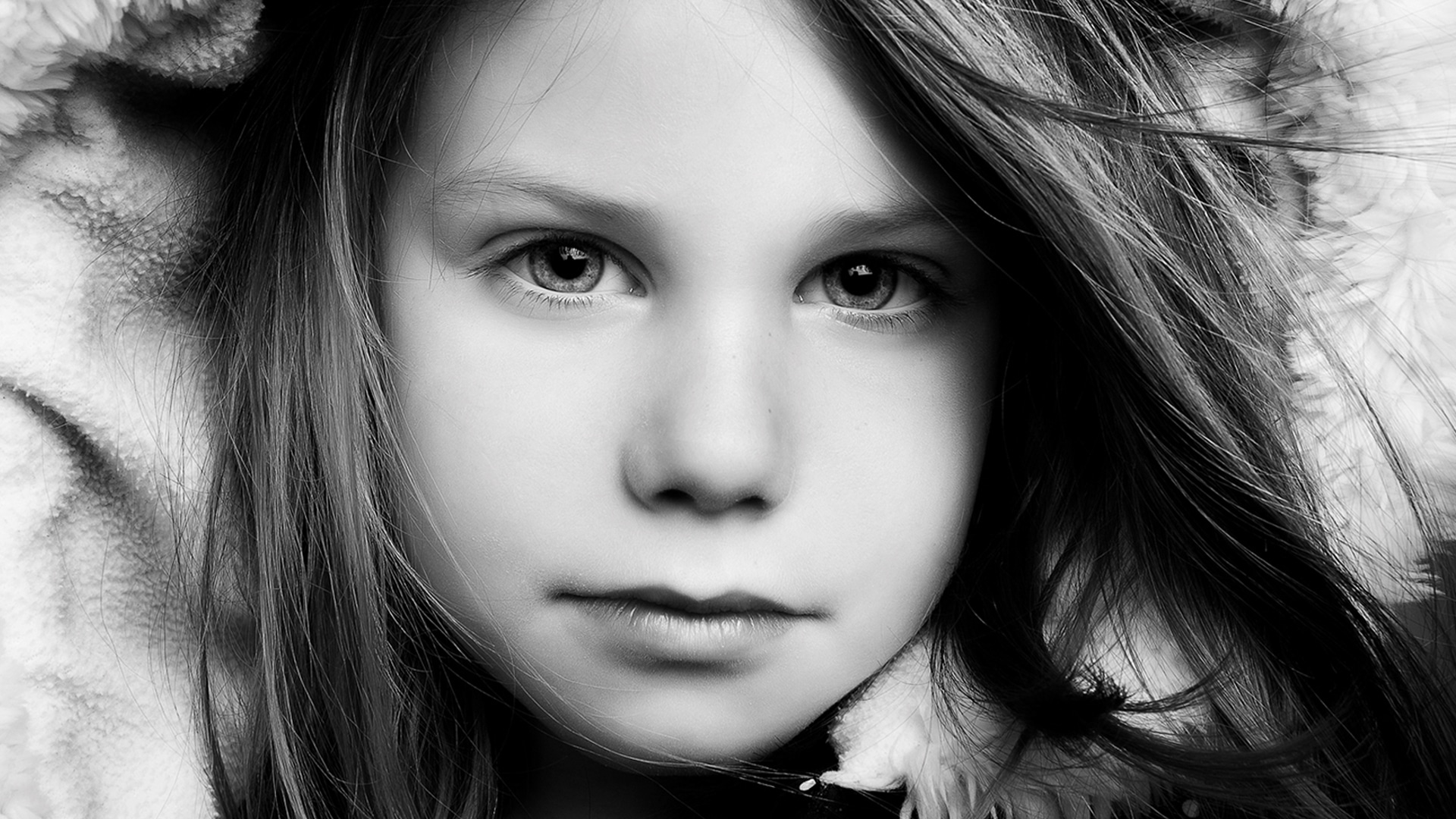 black and white image taken in a studio